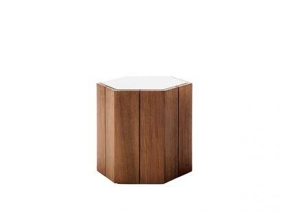 Hexagon Coffe Table Lavastone Linen - High