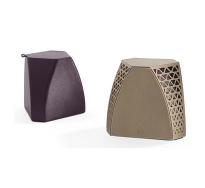 Hudson Side Table/Pouf - Saddle Extra/Leather Frau® Color System