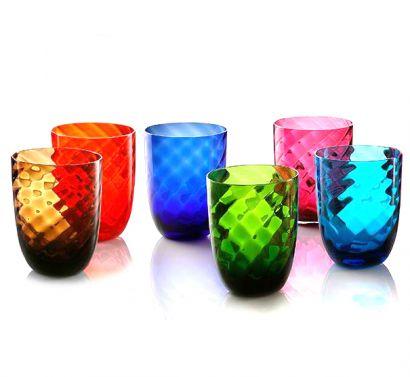Idra Set 6 Bicchieri Assortiti Ottico Torsè