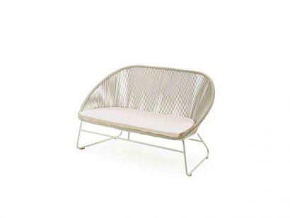 Infinity Divano 2-posti - Bianco / Cuscino Seduta Tessuto Cat. A 1001