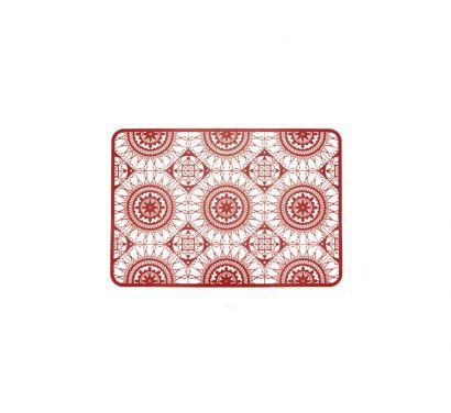 Italic Lace Sottopiatto 45x32 cm Rosso