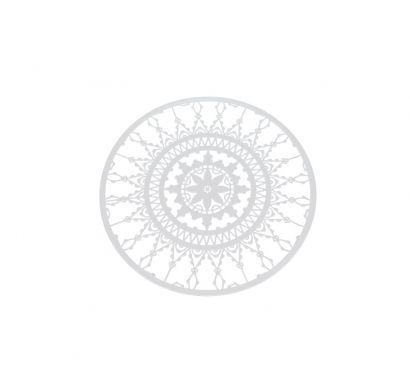 Italic Lace Set 4 Sottobicchieri Ø 10 cm Bianco