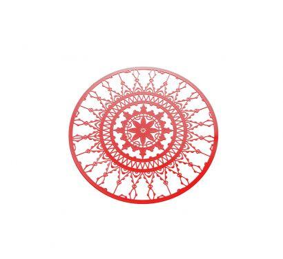 Italic Lace Set 4 Sottobicchieri Ø 10 cm Rosso