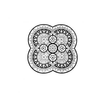 Italic Lace Sottopiatto a Petalo Ø 33 cm Nero