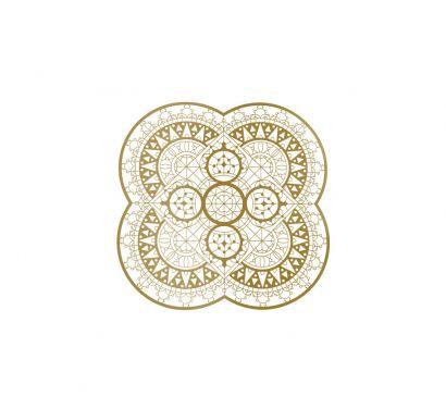 Italic Lace Sottopiatto a Petalo Ø 33 cm Ottone
