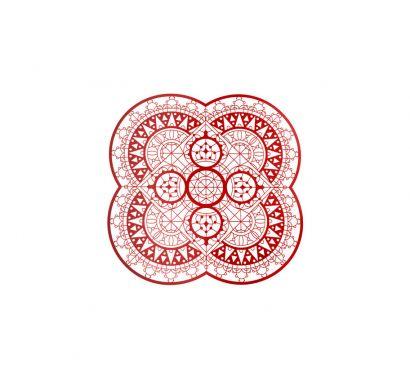 Italic Lace Sottopiatto a Petalo Ø 33 cm Rosso