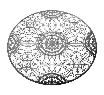 Italic Lace Sottopiatto Ø 34 cm Nero