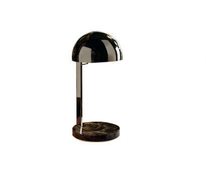Juliette Lampe de table noire - base marbre noir Marquinia