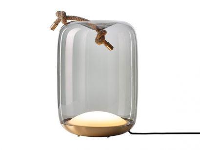 Knot Cilindro Battery Lampada da Tavolo Outdoor Brokis