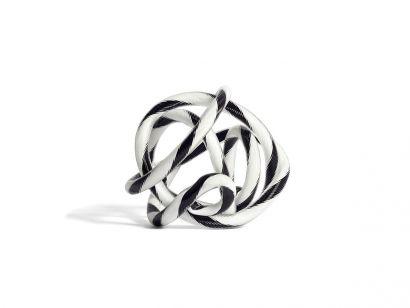 Knot No.2 - S Ø.9 cm - Black & White