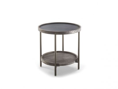 Koster Ø50 Rock Coffee Table - Rock Oxide Black/Ash Caffé Stained
