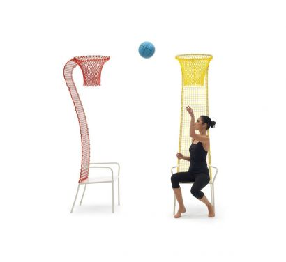 Lazy Basketball Chair Yellow
