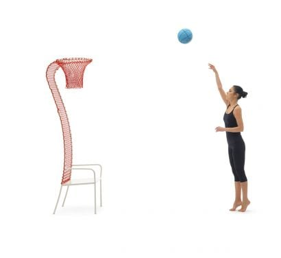 Lazy Basketball Chaise - Rouge