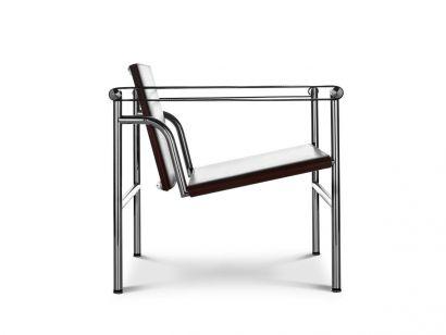 LC1 Chaise Chrome / Cuir Marron