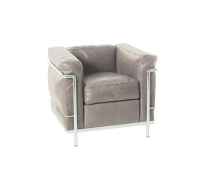 LC2 Fauteuil en cuir - Scozia Grey 13x330