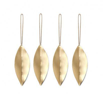 Leaf Brass Ornaments - Oggetto Decorativo