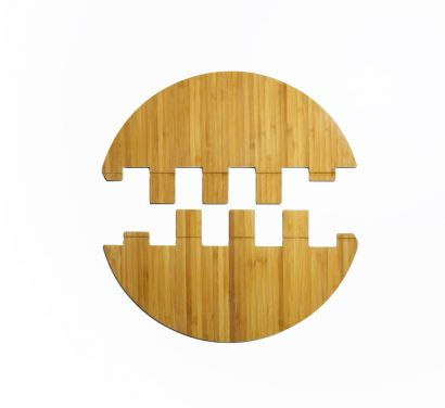 Leaf Tray Bamboo Vassoio