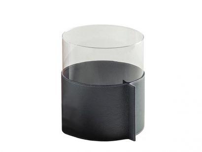 Leather Pot Large Vase - Larimar Leather Nest