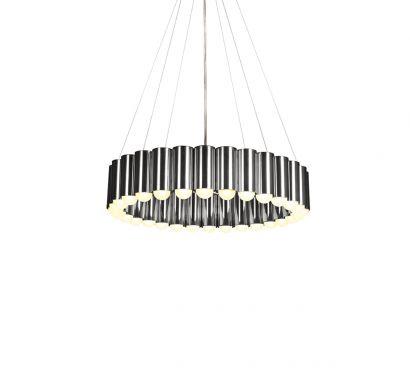 Carousel Chrome Suspension Lamp