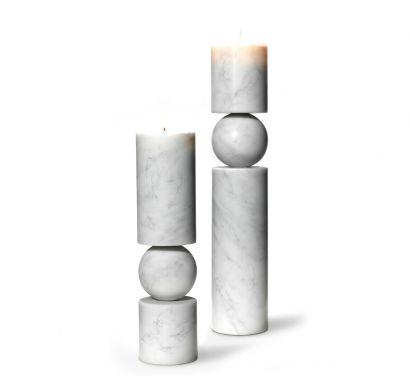 Fulcrum Candelstick Marble