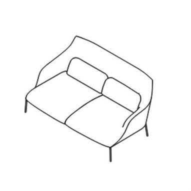 Lima Sofa - OLIM 153 - L. 158 cm - P. 91 cm - H. 78,5 cm