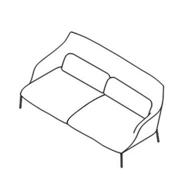 Lima Sofa - OLIM 183 - L. 188 cm P. 91 cm H. 78,5 cm