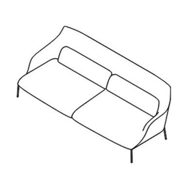 Lima Sofa - OLIM 213 - L. 218 cm - P. 91 cm - H. 78,5 cm