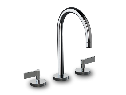 Deck Mounted 3 Hole Basin Set with Swan Spout - LOL04