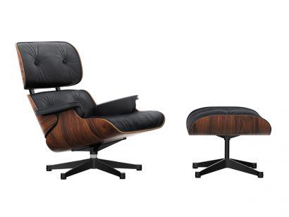 Eames Lounge Chair & Ottoman - Pelle Premium F