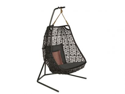 Kettal Maia Swing Armchair with Base - Manganese