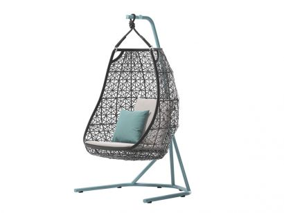Maia Egg Swing Armchair with Base
