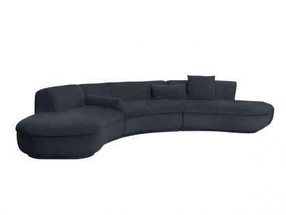 Piaf Sofa Composition - Leather Nabuck Night