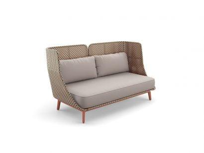 Mbarq 3-seater Sofa High Backrest - 151 Chestnut - DRY+ Cushion Set 462 Cool Sage