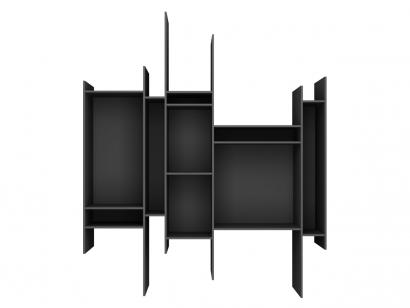 Mdf Italia Randomito Wall Bookcase - Black Edition