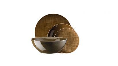 Mesh Walnut Set table