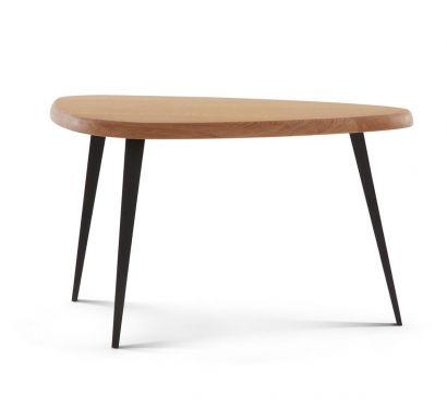 527 Mexique Service Table Natural Oak/Black - H. 70 cm