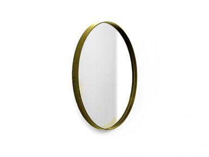 Visual Round Mirror - Ø68cm / Burnished Brass Frame / Clear Mirror