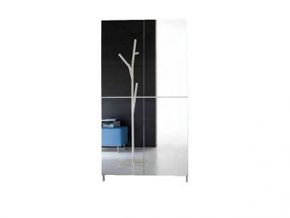 Linear - Scarpiera L. 100 - Struttura Olmo Bianco / Ante a Specchio