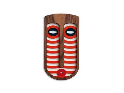 Modern African Mask # 4 Masque Mural Medium