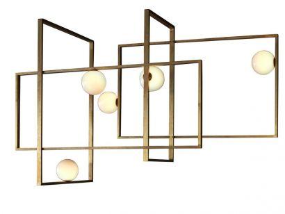 Mondrian Glass Ceiling Lamp