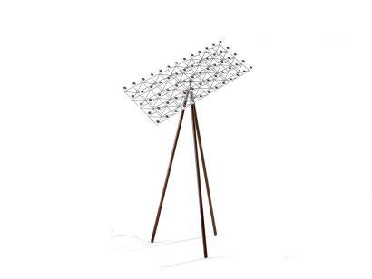 frame floor lamp nickel