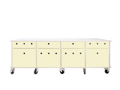 Lader Buffet avec tiroirs et roues