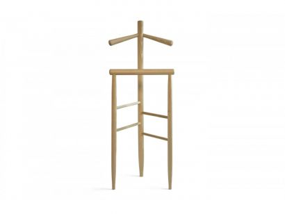 Mori Clothes Valet Stand Solid Beech