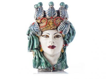 Moro Head Lady Elegance - Multicolor  White Face
