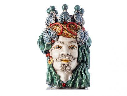 Moro Head Male Elegance - Multicolor  White Face