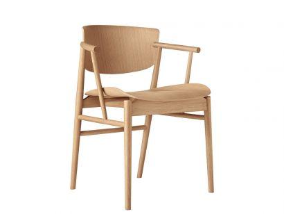N01 wooden armchair solid Oak -  Fritz Hansen
