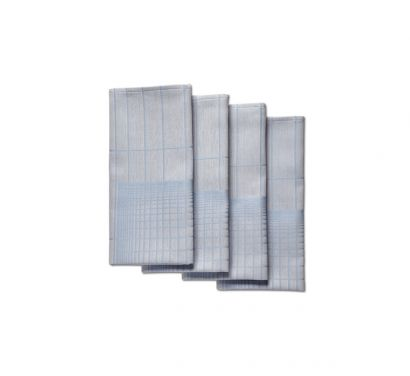 Napkin Double Grid Serviettes Set de 4