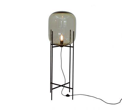 Oda Floor Lamp - Big Grey / Black