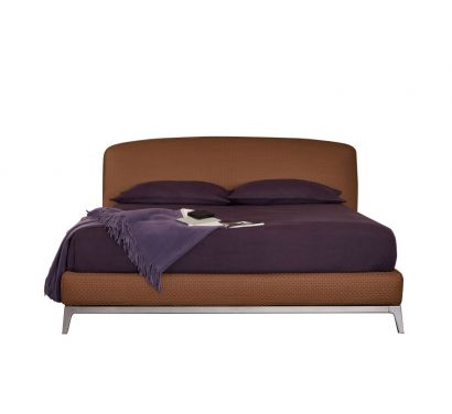 Olivier Double Bed/Woven Leather