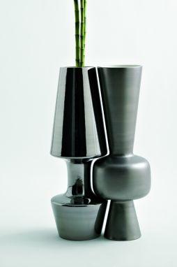 Paire Vase - Paunchy Light Grey
